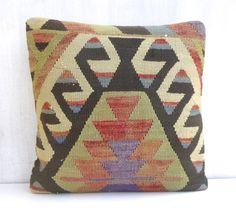 Kilim Cushion cover Shabby Chic Decor by PillowTalkOnEtsy on Etsy, $46.00