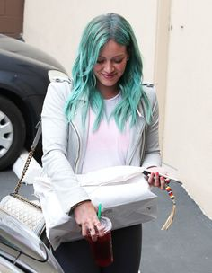 We still love Hilary's blue-green hair. Watch her in Younger Wednesdays. New episodes Wednesdays at 10/9C on TV Land. Discover full episodes http://www.tvland.com/shows/younger.