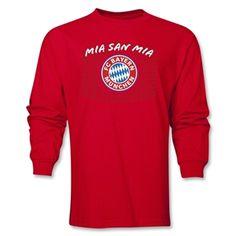 Bayern Munich Logo LS T-Shirt (Red)
