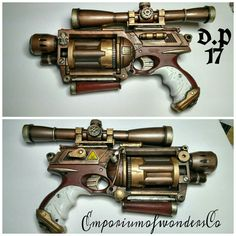 The Steamroller... This fully customized hand Cannon with scope and hand grip with accent's and custom paint job is a Nerf Maverick 6 perfect for up close and personal or at a distance will crush your enemies visit my store etsy.com EmporiumofwondersCo. For this and more