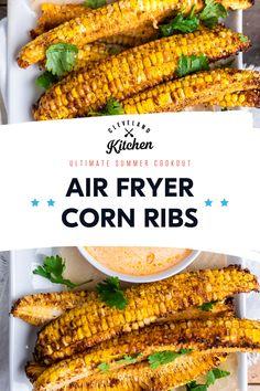 Air Fryer Recipes Asian, Air Fryer Recipes Appetizers, Air Fryer Recipes Vegetarian, Air Fryer Dinner Recipes, Healthy Low Carb Recipes, Veggie Recipes, Cooking Recipes, Air Fryer Cooking Times, Cooks Air Fryer