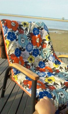 DIY couture matelas de plage tissu molletoné emmené partout