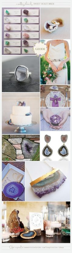Geode Wedding Theme by Sweet Violet Bride