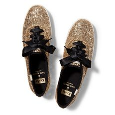i need these in my life. kate spade for keds #blackandgold
