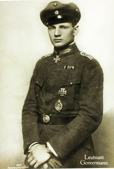 Heinrich Gontermann (1896-1917) was a German WW! ace credited with 39 victories before he was KIA at the age of 21. He began his air career as a recon pilot and was eventually transferred to a fighter squadron.He was a keen marksman and master aerial acrobat.He was repeatedly decorated before his last mission on Oct 30 when he crashed during a test flight of a new type of aircraft.