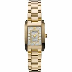 Emporio Armani Ladies Silver and Gold Stainless Steel Watch Buy your Armani womens silver and gold watch from Tic Watches the UK's leading online stockist of the Emporio Armani Watch Collection. Stainless Steel Watch, Stainless Steel Bracelet, Discount Watches, Gold Diamond Watches, Armani Watches, Gold Plated Bracelets, Classic Gold, Watch Brands