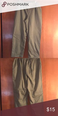 Army green pant Has a stretchable waistband Koret Pants