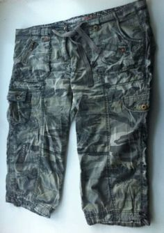 New - Womens Evans Camouflage Combat Cargo Shorts with Waist Tie Size 18 - £10
