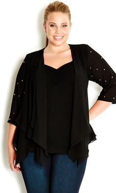 City Chic - SASSY STUD JACKET - Women's plus size fashion #citychic #citychiconline #newarrivals #plussize