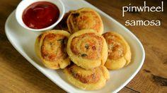 pinwheel samosa recipe, samosa pinwheels, aloo bhakarwadi with step by step photo/video. easy