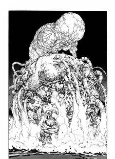 """""""Akira"""" by Katsuhiro Otomo Fanart Manga, Manga Art, Anime Art, Jean Giraud, Planet Terror, Akira Manga, The Artist Movie, Katsuhiro Otomo, Ink Master"""