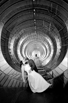A wedding we shot at the evergreen aviation museum. Shot was taken in the tail of the spruce goose