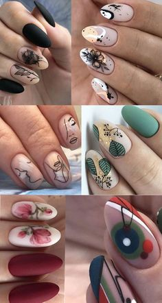 Stylish Nails, Trendy Nails, How To Do Nails, My Nails, Black Manicure, Different Types Of Nails, Almond Shape Nails, Dream Nails, Wild Hair