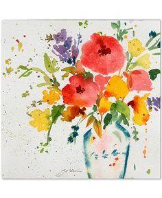 Canvas Art Prints, Painting Prints, Canvas Wall Art, Watercolor Paintings, Watercolors, Tattoo Watercolor, Flower Canvas Art, Flower Art, Art Mural