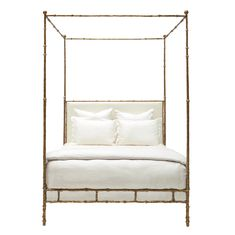 Diego Bed sculpted iron frame with upholstered headboard King Beds, Queen Beds, Four Poster Bed Frame, Poster Beds, Oly Studio, Bedding Master Bedroom, Lounge, Home Inc, How To Make Bed