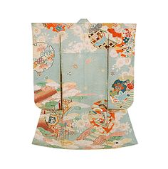 Early Showa period yuzen-dyed kimono. Japan