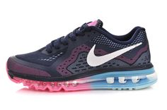 new product 67325 fc09d Womens Nike Air Max + 2014 Black Green Pink Shoes