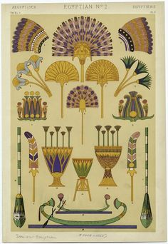 [Egyptian lotus motifs, fans, boats, and paddles.] (1868)