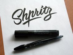 Calligraphy & Lettering Logos. Behind the scenes by Evgeny Tkhorzhevsky, via Behance