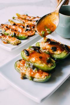 Chinese Stuffed Peppers, by thewoksoflife.com