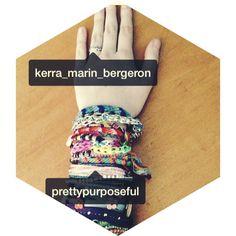 @Kerra Bergeron wearing her #PrettyPurposefulAfricaCollection bracelet (among many others ) ;)