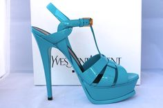 Saint Laurent Ysl Tribute Platform Turquoise Patent Leather 38 Blue Sandals. Get the must-have sandals of this season! These Saint Laurent Ysl Tribute Platform Turquoise Patent Leather 38 Blue Sandals are a top 10 member favorite on Tradesy. Save on yours before they're sold out!