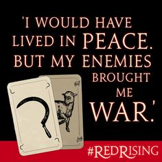 The first line of Pierce Brown's galaxy-shattering RED RISING.