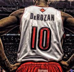 Toronto Raptors. DeMar DeRozan #10.