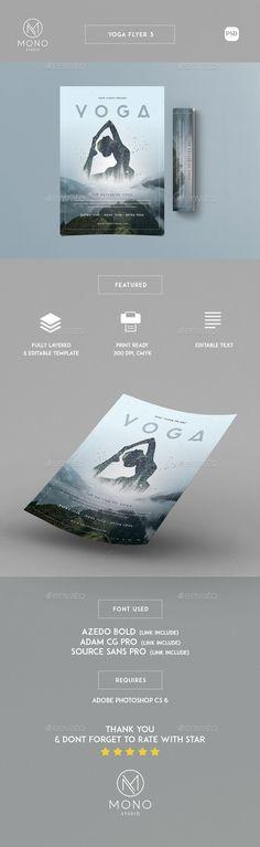 Yoga Flyer Flyer template, Yoga and Graphics - yoga flyer
