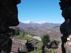 Panorama da una feritoia della Rocca di Castiglione