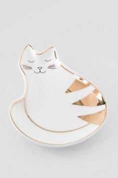 Gold Cat Trinket Dish $8.00