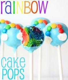 Munchkin Munchies: Rainbow Cake Pops. Cool how to!