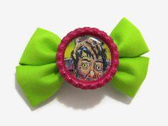retro sci-fi horror hair bow  rockabilly by planetniffer on Etsy