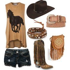 Horse by hotcowboyfan on Polyvore