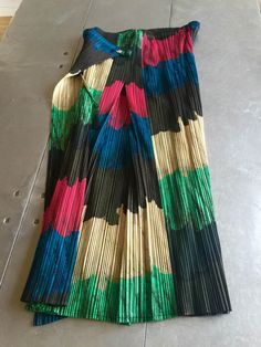 Issey Miyake Pleats Please colorful skirt . Vintage authentic ISSEY MIYAKE envelope stylish skirt pleated polyester size 4 by NUKOBRANDS on Etsy https://www.etsy.com/listing/272514582/issey-miyake-pleats-please-colorful