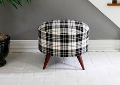DIY mid century inspired ottoman, any ideas on where to find a large wooden spool??