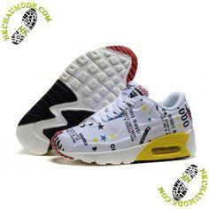 newest 0c327 19de9 chaussure nike enfant fille Air Max 90 Mickey Minnie Blanc Jaune