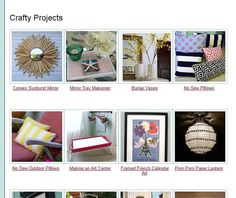 how to make picture index of projects on your blog