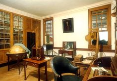George Washington's Study - The best feature of the room? A rocking chair that fanned you as you rocked.