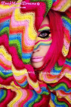 🌈 Cobertor do Arco-íris Multicolor Zig Zag - / 🌈 Rainbow Blanket Zig Zag Multicolor -