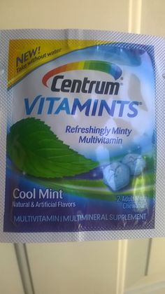 Minty multivitamins I received for free from smiley 360. They are wonderful also. Just chew 2 mint chewables a day. It taste so good you believe you just took a multivitamin that I good for you.