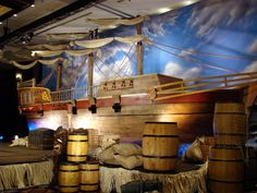 inspiration ship and keg staging | Pirate party ideas