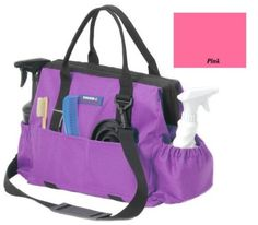 Tough 1 600 Denier Poly Grooming Tote Pink by Tough-1. Save 39 Off!. $19.90. Removeable shoulder strap with shoulder pad. 3 pockets on one side and large zipper pocket on other side. Measures approximately 14 long and 10 high. Elastic top puches on each end. Made of 600 denier poly with wire framed zipper top making accessing contents easier. A must have for everyone that has a horse. Features: This bag is great for taking to horse shows, keeping extras in the horse trailer, use...