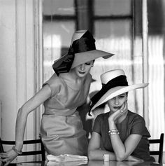 Tea time, with lovely hats.