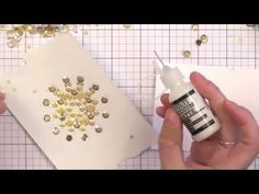 Creative Card Techniques with Jennifer McGuire - YouTube.  She does a really cute one with sequins and wavy borders.