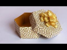 DIY Gift Box tutorial | Paper Gift Box | Easy Paper Crafts | Little Crafties - YouTube