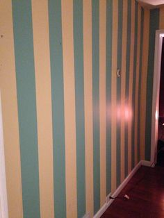 Striped hallway wall