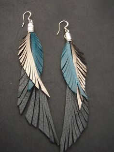 Glamourous, flattering and fun.  Unlike conventional feather earrings, these wont get messed up or bend or break.  The soft black leather wings