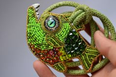 Myrtle the shy  fish Kinga's fishies bead by crimsonfrog on Etsy, $150.00