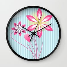 Flowers in summer. #wall #clock #society6 https://society6.com/product/sunny-afternoon-33p_wall-clock#33=283&34=285